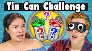 TIN CAN CHALLENGE | Teens Vs. Food - dooclip.me