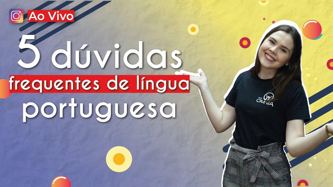 5 dúvidas frequentes de língua portuguesa