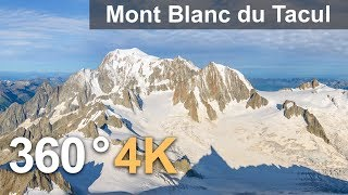 Three peaks of Mont Blanc, 360° video over Mont Blanc du Tacul