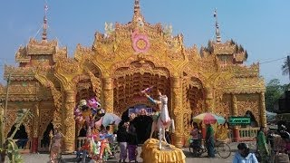 preview picture of video 'Mandalay Myanmar , Initiation of Novicehood / Shin pyu Ceremony in Burma'