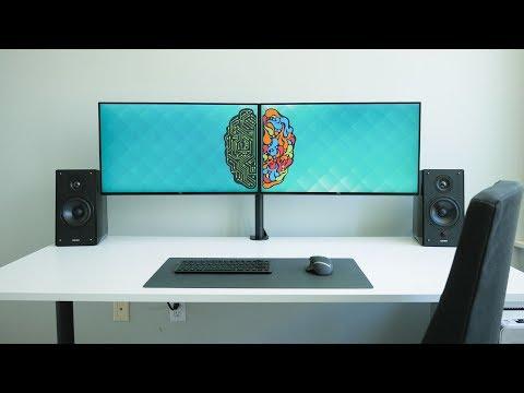 Ultimate Dual Monitor Desk Setup!