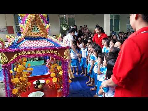 """video tiết dạy """"bé vui lễ hội Ooc om boc"""" tại trường Mẫu giáo Mai Hoa"""