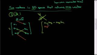 How to calculate the cross product: A simple method for computing the cross product. Just remember that the cross product is: TWO vectors in THREE dimensiona...