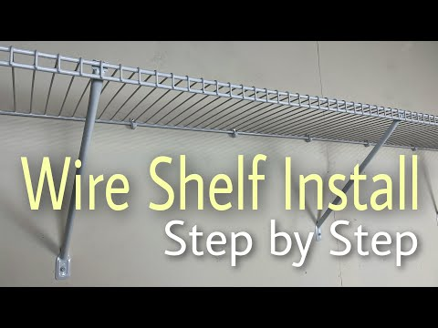Closet Shelf Installation and Repair   ClosetMaid Wire Shelf Kit