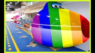 Super Wings Kids Indoor Playground Learn Colors with baby in colorful swings