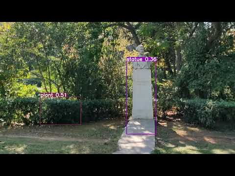 VR-Park A.I. – Objects identification in urban parks (test video 2)