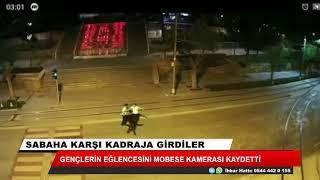 Konya'da gençlerin yol ortasındaki eğlencesi böyle görüntülendi