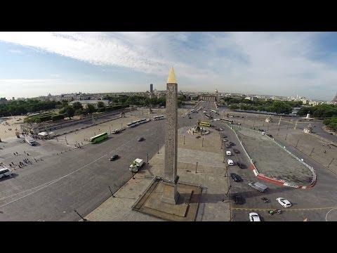 Drone View of the Luxor Obelisk Paris Fr