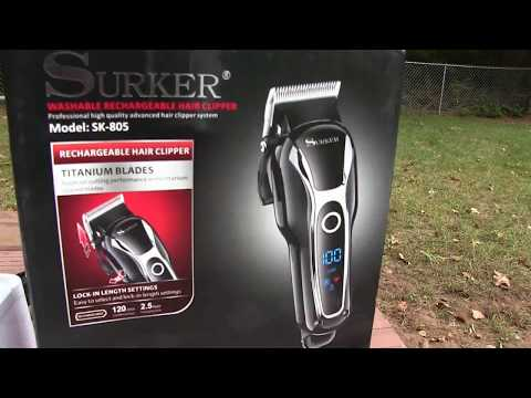 Review SURKER SK- 805 Wireless Rechargeable Clippers – eBAY – Barber – TheConnect860