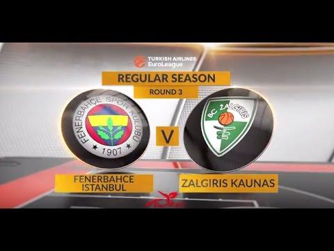 EuroLeague Highlights RS Round 3: Fenerbahce Istanbul 82-68 Zalgiris Kaunas