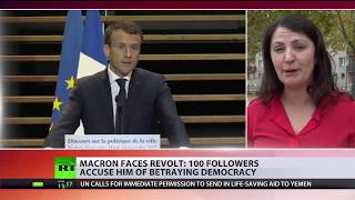 'Arrogant & undemocratic': Macron loses 100 party members in latest 'revolt'