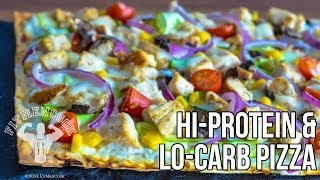 FitMenCook Hi-Protein Lo-Carb Pizza Recipe / Pizza Alta-Proteina, Bajo-Carbos