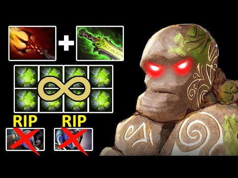 EPIC HARD CARRY Dagon Etheral Blade Earth Spirit LVL 30 Destroy Tinker On MID And Carry Luna Dota 2