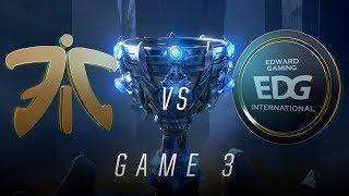 FNC vs EDG   Quarterfinal Game 3   World Championship   Fnatic vs Edward Gaming (2018)