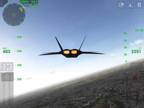 F18 Carrier Landing Lite v 7.1 - Testing F22 RAPTOR new aircraft and fligth simulator