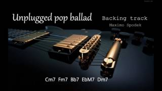 UNPLUGGED POP BALLAD IN C BACKING TRACK