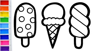 Ice cream coloring and drawing for kids - 201Tube.tv