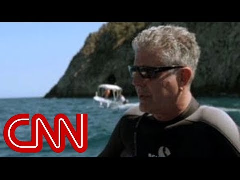 "Scene where Anthony Bourdain, excited to catch live octopus, is conned by his Sicilian tour guide. He later tweeted that the experience was a ""truly a personal low point"""