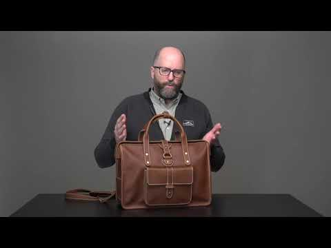 Gladstone Leather Briefcase Video