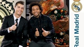 Real Madrid Christmas Greetings Bloopers 2013   Tomas Falsas De Los Mensajes De Navidad 2013