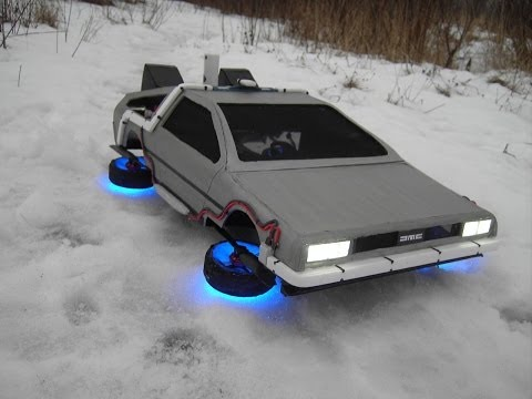 Great Scott! Flying DeLorean Is The Best Use Of Quadrotors To Date