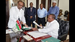 Uhuru signs competition and insurance bills into law