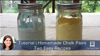 DIY Homemade Chalk Paint | Two Easy Recipes - Speedy Tutorial #5