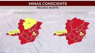 Minas Consciente sem muitas mudanças, mas governo de Minas muda de novo reclassificação da onda vermelha
