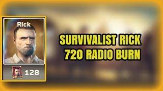 BURNING 720 RADIOS ON SURVIVALIST RICK! UNLOCKING NEW RICK!