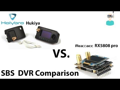 Holybro Hukiya RX5808 Pro Diversity Receiver Vs Realacc RX5808 - Side By Side DVR Comparison