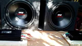 THIS IS JUST A REVIEW AND MY OPINION THE PYLE POWER 15D SUBS ARE ALRIGHT
