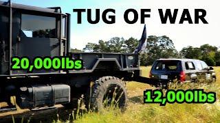 Armored Suburban Somehow Smokes a 5 Ton Truck