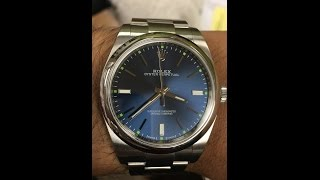 Rolex oyster perpetual ref# 114300 39 mm Blue Unboxing
