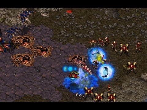 Force (Z) v Shuttle (P) on Fighting Spirit - StarCraft - Brood War REMASTERED