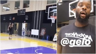 Lance Stephenson Wants To See If Gelo Ball Can Hit A Shot At The Lakers Facility