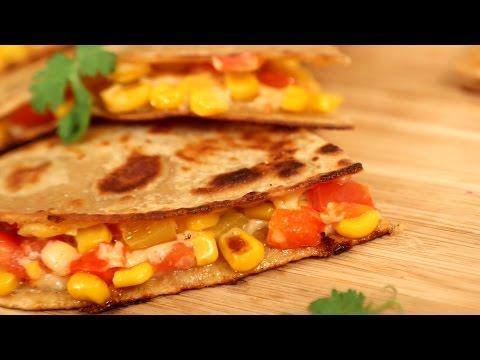 Video Vegetable Quesadillas Recipe | How To Make Quesadillas | Divine Taste With Anushruti