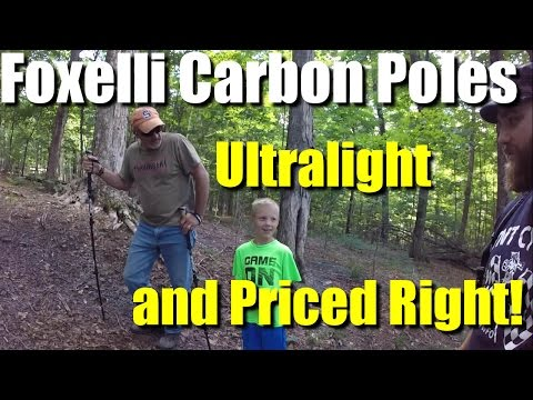 Foxelli Carbon Fiber Trekking Poles-Light and cheap!- Review and Giveaway!  RevHiker