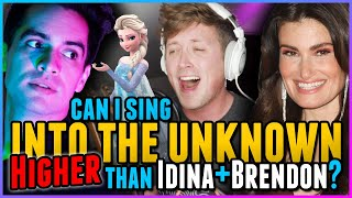 "HIGH NOTE CHALLENGE: Can I Sing ""Into The Unknown"" HIGHER than Idina Menzel & Brendon Urie? FROZEN 2"