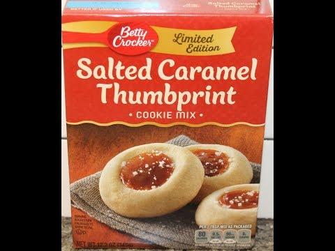 Betty Crocker Salted Caramel Thumbprint Cookie Mix – Preparation & Review