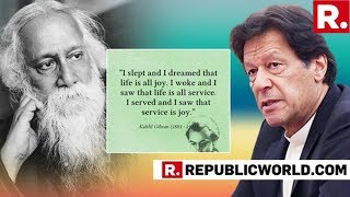 EMBARASSING: Pakistan PM Imran Khan Attributes Rabindranath Tagore's Quote To Kahlil Gibran
