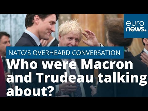 Justin Trudeau and Emmanuel Macron appear to make fun of President Trump