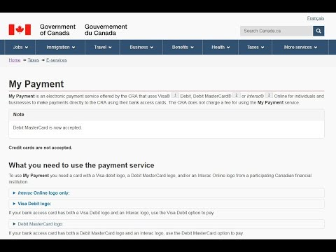 cra how to pay taxes online