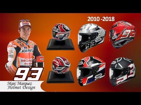Marc Marquez Helmets Design 2010 -  2018