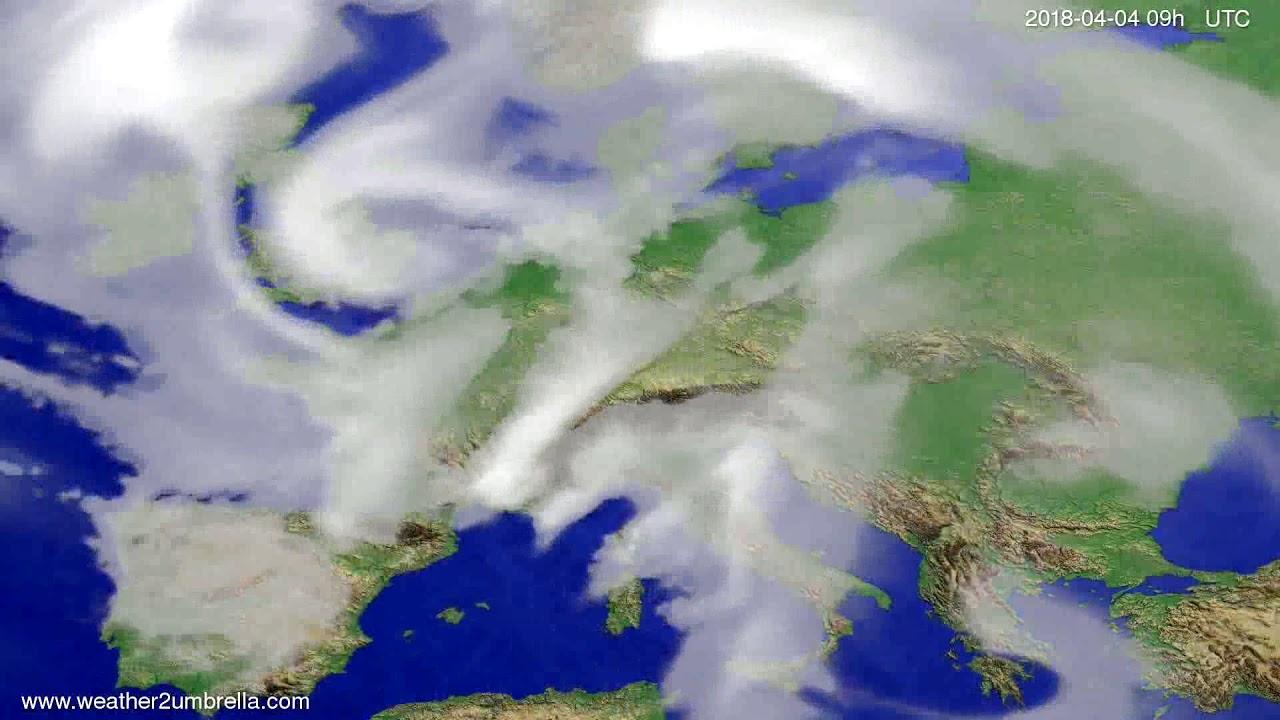 Cloud forecast Europe 2018-03-31