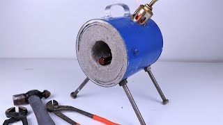 How To Make A Mini Blacksmith Propane Forge At Home. |DIY |