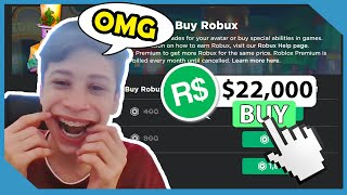 Buying My Nephew $22,000 Robux In Roblox