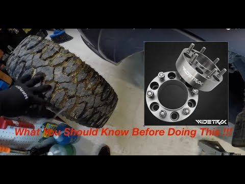 Installing  WIDETRAX 2in Wheel Spacers On MY 2002 Toyota Sequoia