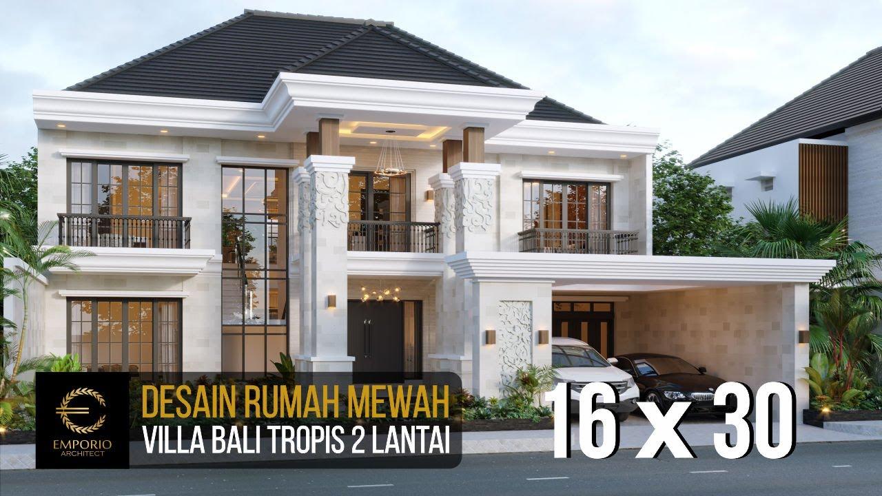 Video 3D Desain Rumah Villa Bali 2 Lantai Bapak Dwi Agus di Semarang, Jawa Tengah