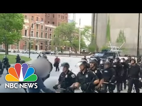 Video Shows Buffalo Police Shoving Man During Protest | NBC News NOW
