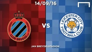 Club Brugge v Leicester in words and numbers